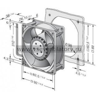 Вентилятор компактный EBMPAPST 3218JH (92x92)