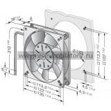 Вентилятор компактный EBMPAPST 5112N (135x135)