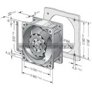 Вентилятор компактный EBMPAPST 618JH (60x60)