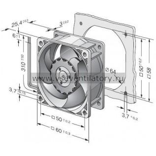 Вентилятор компактный EBMPAPST 622HH (60x60x25)