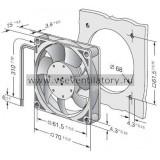 Вентилятор компактный EBMPAPST 712F (70x70)
