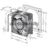Вентилятор компактный EBMPAPST 8212JN (80x80)