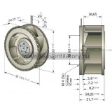 Вентилятор компактный EBMPAPST RER101-36/12NHH
