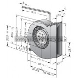Вентилятор компактный EBMPAPST RL65-21/12