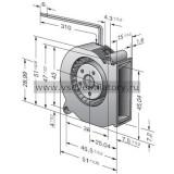 Вентилятор компактный EBMPAPST RLF35-8/14 N