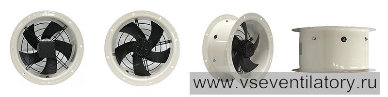 Осевые вентиляторы YWF (круглый фланец)